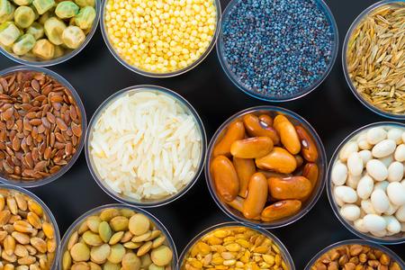 céréales et légumineuses agricoles dans le laboratoire Banque d'images