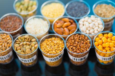 Cereali agricoli e legumi in laboratorio Archivio Fotografico - 41066568
