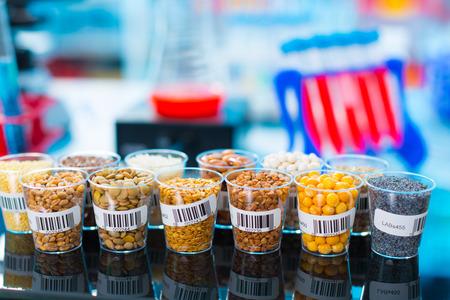 Cereali agricoli e legumi in laboratorio Archivio Fotografico - 41251914