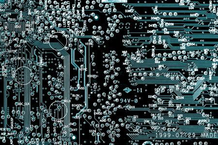 printed circuit: printed circuit board Stock Photo