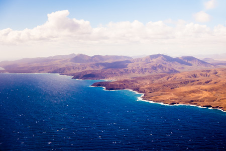 conde: Canary Islands from the aircraft Stock Photo