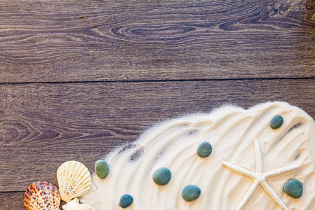 props: wood background with sea props