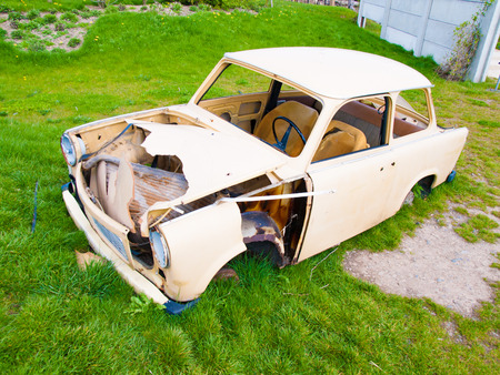 crashed: old crashed car