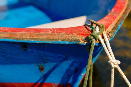 tied: Boot gebunden Seile