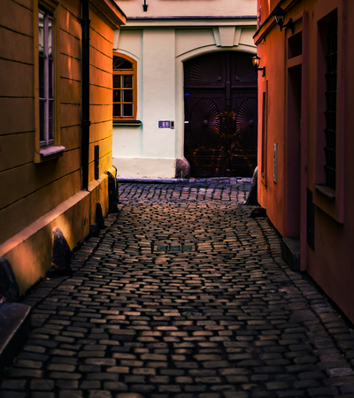old street: Prague, old town street