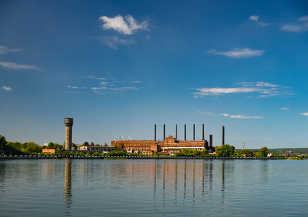temelin: Industrial plant of the pond