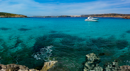 oceanscape: The Blue Lagoon on Comino Island, Malta Gozo