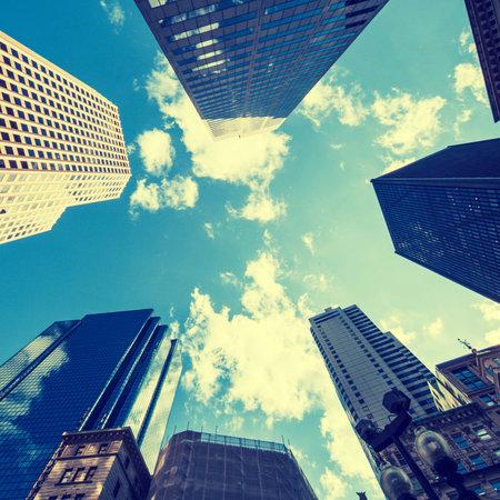 sky scrapers: BOSTON, USA - JULY, 22, 2011: skyscraper view
