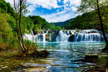 water park: Waterfalls Krka, National Park, Dalmatia, Croatia