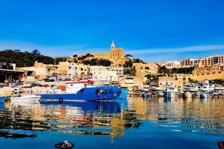 moorings: Port of Mgarr on the small island of Gozo - Malta