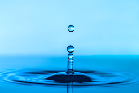 drops: Falling water drop and splash