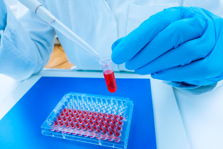 eppendorf: scientist woman in genetic laboratory
