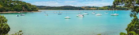paradise bay: Yacht in bay New Zealand