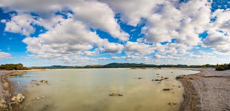 destination scenics: New Zealand Lake Rotorua Stock Photo