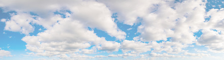 panoramic sky: Panoramic shot of a beautiful cloudy sky