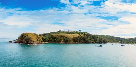 islands: Yacht in bay New Zealand