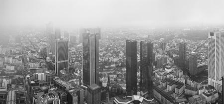 frankfurt stock exchange: view european city Frankfurt am main skyscrapers