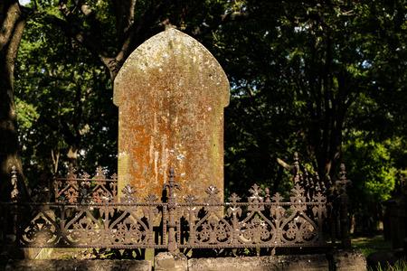 graves: single grave stone