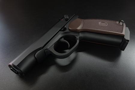 glock: Air gun on black  background