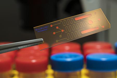 embryonic: microfluidic processor, lab on chip