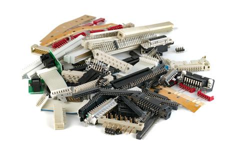 connectors: electronic connectors Stock Photo