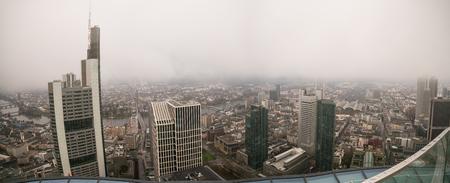 mist: City Frankfurt skyline in fog