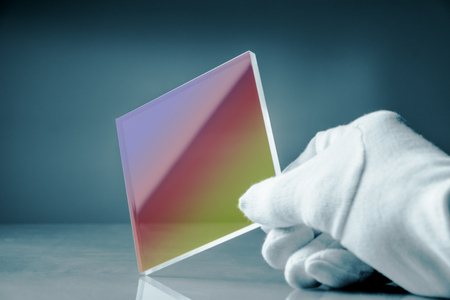 anti-reflective glass with an optical interference coating