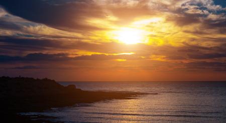 over the sea: Sunset over sea