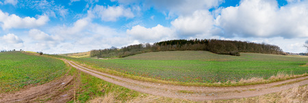 dirty: dirty road panorama Stock Photo
