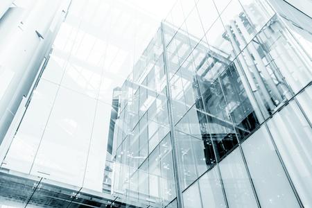Estratto di vetro blu grattacielo di sfondo Archivio Fotografico
