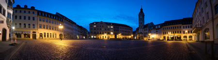 nuremberg: GERA, GERMANY - APRIL 05,2016: Panorama Central Square of small german City Gera, Germany. Editorial