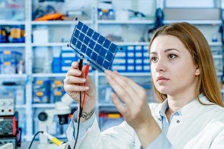 Development of Film solar cell Archivio Fotografico
