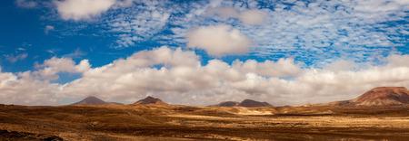 mountain landscape: Landscape panorama fuerteventura Stock Photo
