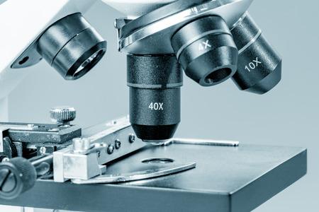 slide: Microscope  in laboratory