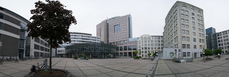 counted: JENA, GERMANY - MAY, 29, 2016: Campus - Friedrich-Schiller-Universität Jena. The university was established in 1558 and is counted among the 10 oldest universities in Germany Editorial