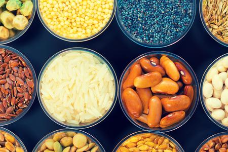 leguminosas: granos agrícolas y legumbres en el laboratorio