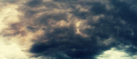 dark skies: Stormy sky panorama