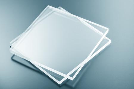 bulletproof: Samples of bulletproof glass Stock Photo
