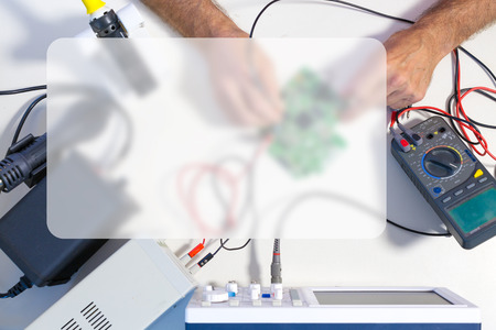 message board: Repair electronics device, Banner Blank Board Message Copy-space Concept Stock Photo