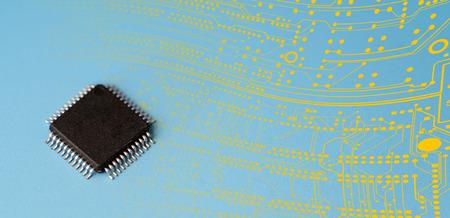 quantum: quantum computer IC.   prototype  concept chip