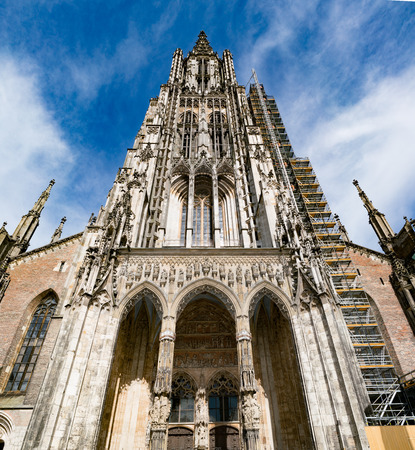 minster: Ulm Minster (German: Ulmer M?nster) is a Lutheran church located in Ulm, Germany. Stock Photo
