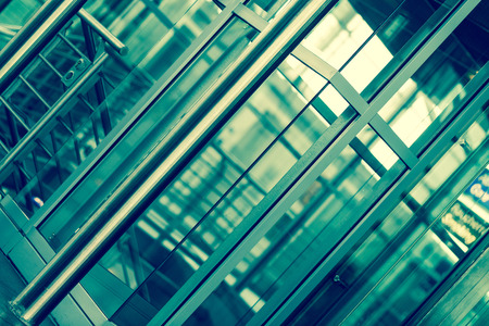 architecture abstract: abstract architecture background. glass and metal
