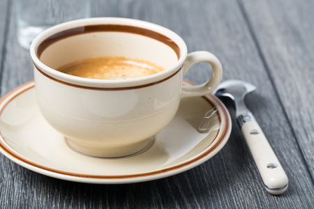 espresso cup: Coffee cup with espresso Stock Photo