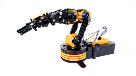 manipulator: Plastic model of industrial robotics arm Robot manipulator