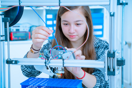 female architect: Female Architect Using 3D Printer