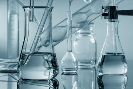experimento: Chemical glass Foto de archivo