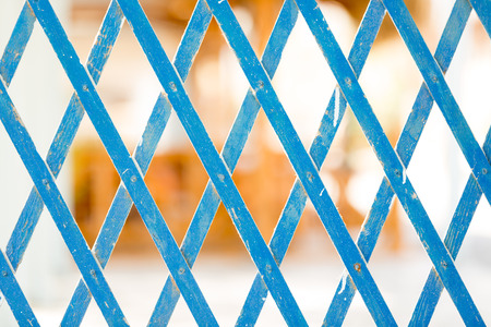 grid: Blue Grid Wooden fence