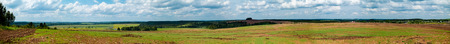 plowed field: Agricultural field panorama Stock Photo