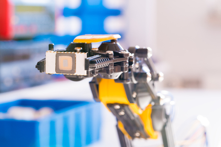 Ic: IC electronics chip in robot arm