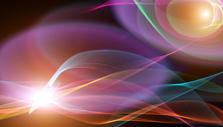 dark blue background: abstract backgrounds smooth lines and light flash Stock Photo